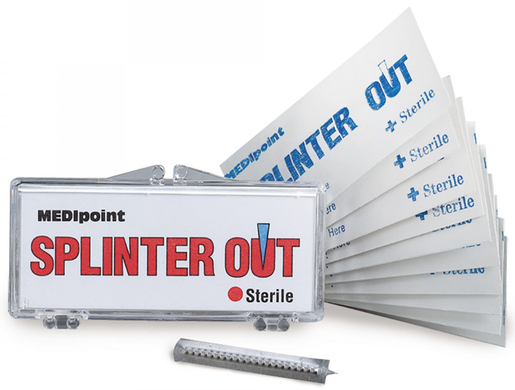 Splinter Out<sup>™</sup>, Hinged Plastic Case, 10/case