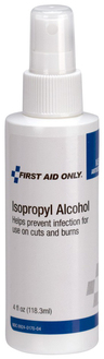 First Aid Only<sup>®</sup> Isopropyl Alcohol Pump Spray, 4oz Plastic Bottle