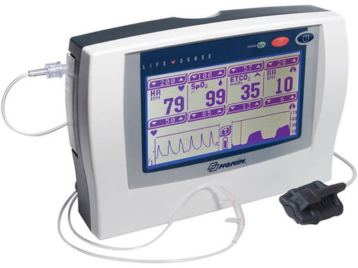 Nonin LifeSense<sup>®</sup> Capnograph and Pulse Monitor, Unit