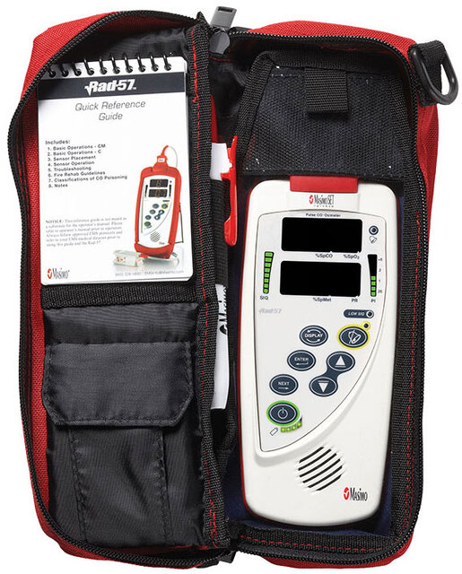 Mosimo Rad-57<sup>™</sup> Handheld Oximeter with SpO2, RC-01 Cable and Case, Adult