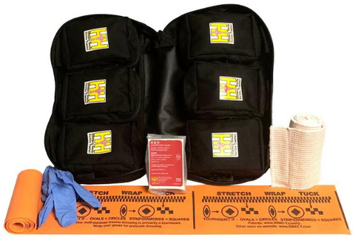 "H&H Medical Mass Casualty ""Grab and Throw"" Basic Kit, Resealable Bags, 6-pack"