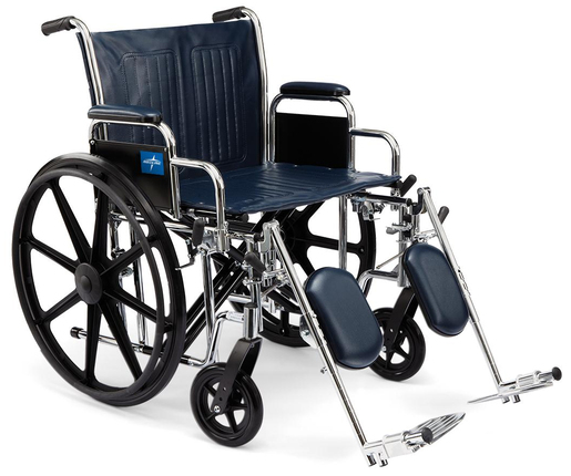 "Excel Extra-wide Wheelchair, 22""W, Navy"