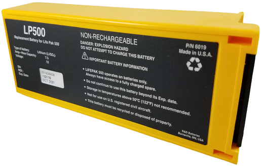 Non-rechargeable Lithium Battery for LifePak<sup>™</sup> 500