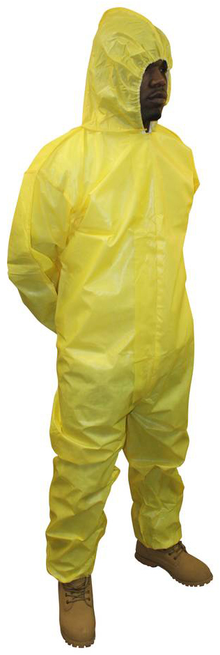 ProChem<sup>&reg;</sup> Coverall with Hood, Yellow, XX-Large