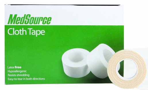 "MedSource Cloth Tape, 1/2"" x 10yd"