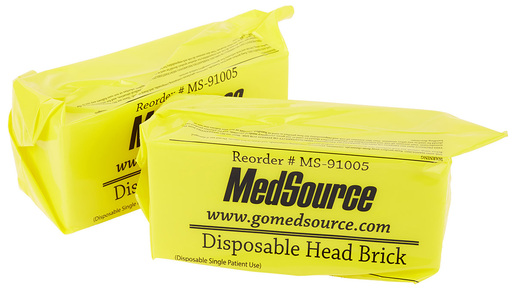 MedSource Disposable Head Brick, Straps Only