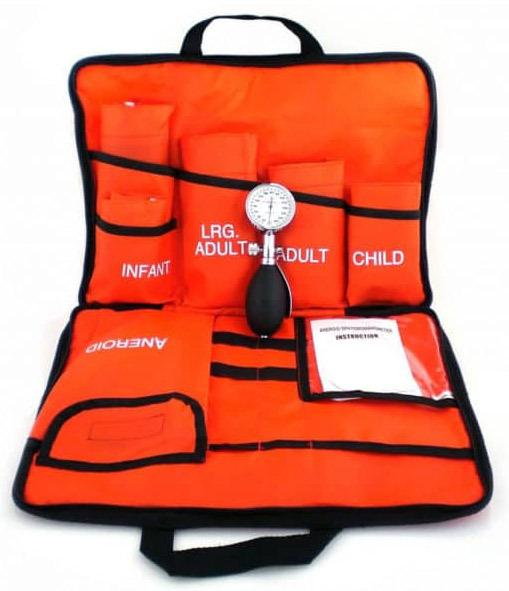 MedSource Blood Pressure Kits, 3 Cuffs, Orange