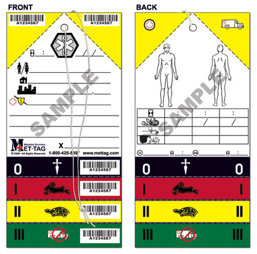 Mettage Triage Tags, 50/pkg