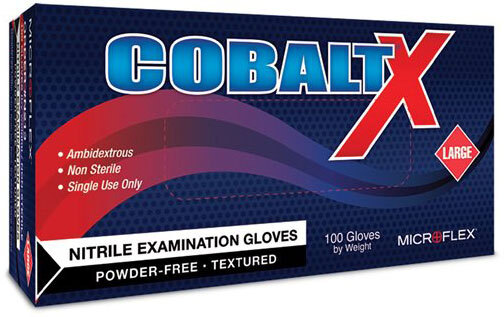 COBALT<sup>®</sup> X Nitrile Exam Gloves, Large