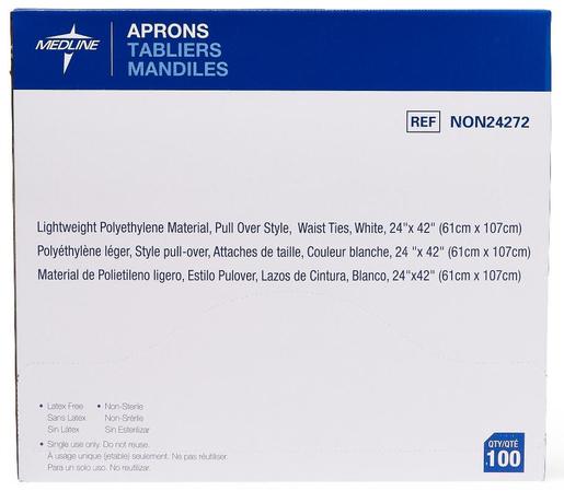 "Protective Polythylene Disposable Aprons, 24"" x 42"""
