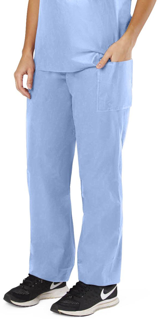 Blue Disposable Scrubs, Drawstring Pants, X-Large