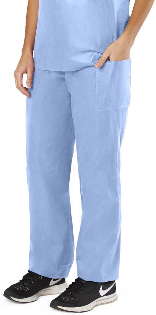 Blue Disposable Scrubs, Drawstring Pants, XX-Large