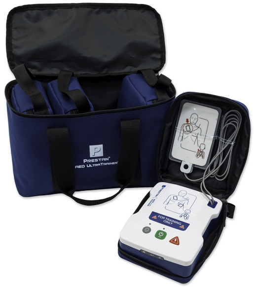 Prestan<sup>®</sup> Adult/Child AED UltraTrainer<sup>™</sup> 4-pack Unit with 8 Training Pads, 4 Pads Storage Trays and 4 Carry Bags