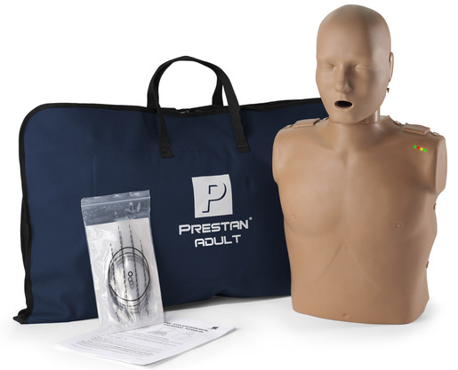 Prestan<sup>&reg;</sup> Professional Adult CPR Training Manikin with CPR Monitor, Dark Skin, Single Manikin