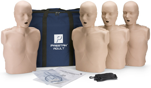 Prestan<sup>&reg;</sup> Professional Adult CPR Training Manikin without CPR Monitor, Medium Skin, 4-pack