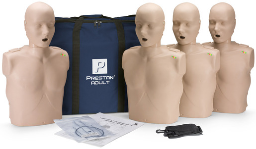 Prestan<sup>&reg;</sup> Professional Adult CPR Training Manikin with CPR Monitor, Medium Skin, 4-pack