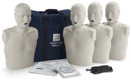 Prestan<sup>®</sup> Professional Adult CPR Training Manikin with CPR Monitor, Light Skin, 4-pack