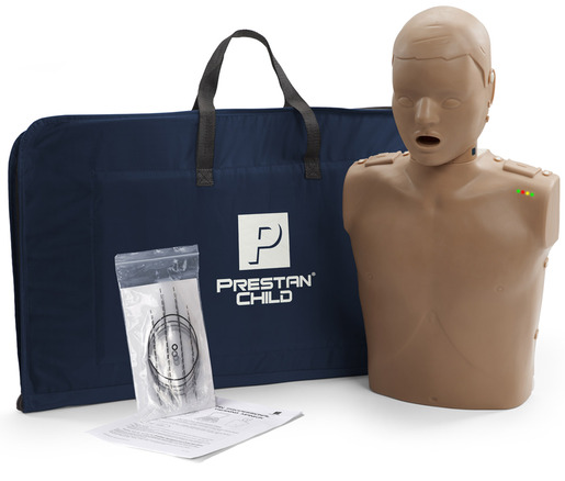 Prestan<sup>&reg;</sup> Professional Child CPR Training Manikin with CPR Monitor, Dark Skin, Single Manikin