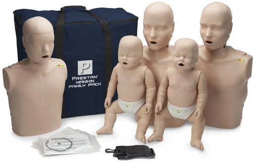 Prestan<sup>&reg;</sup> Professional Family Pack CPR Manikins, Medium Skin