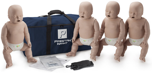 Prestan<sup>®</sup> Professional Infant CPR Training Manikin with CPR Monitor, Medium Skin, 4-pack
