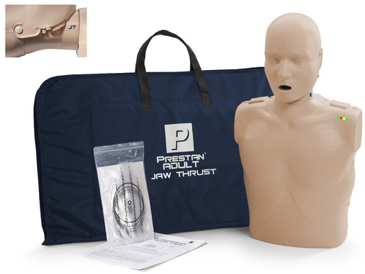 Prestan<sup>®</sup> Professional Adult Jaw Thrust CPR Training Manikin with CPR Monitor, Medium Skin, Single Manikin