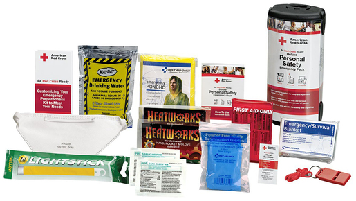 First Aid Only<sup>®</sup> Deluxe Personal Safety Emergency Preparedness Kit