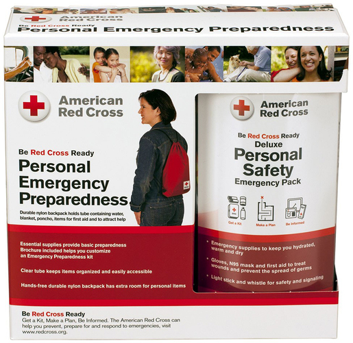 First Aid Only<sup>&reg;</sup> Red Cross Personal Emergency Safety Pack with Backpack