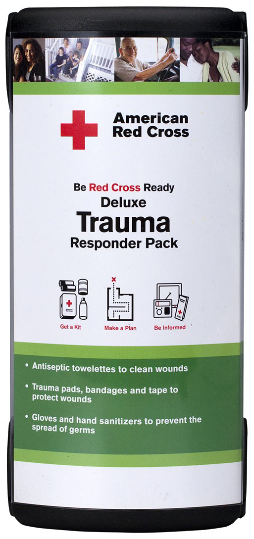 First Aid Only<sup>®</sup> 'Be Red Cross Ready' Deluxe Trauma Responder Pack, 24-piece
