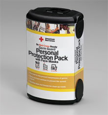First Aid Only<sup>®</sup> Red Cross Germ Guard Protection Pack with Procedural Face Mask