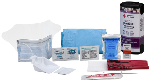 First Aid Only<sup>&reg;</sup> Red Cross Premium Fluid Spill Emergency Responder Pack