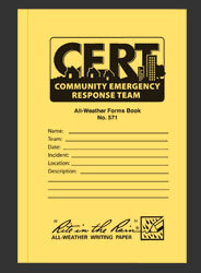 Rite in the Rain<sup>&reg;</sup> Community Emergency Response Team (CERT) Forms, 24 Sheets/Book