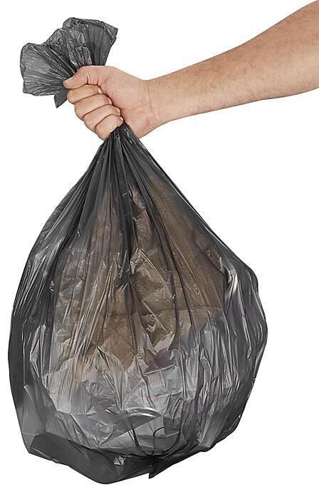 Economy Trash Liners, 12-16gal, Black