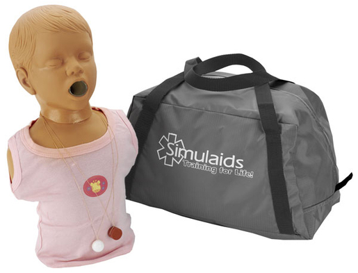 Simulaids Choking Manikin with Carry Bag, Pediatric