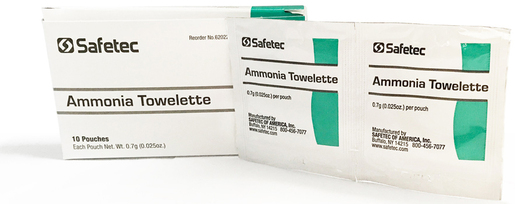 Safetec<sup>®</sup> Ammonia Inhalent Towelettes