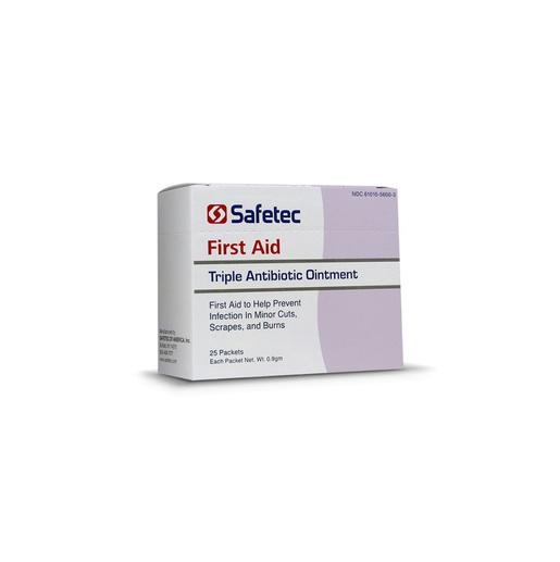 Safetec<sup>®</sup> Triple Antibiotic Ointment, 9/10g, 25/box