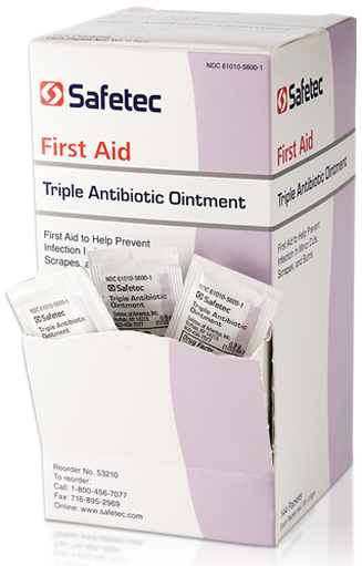 Safetec<sup>&reg;</sup> Triple Antibiotic Ointment, 9/10g, 144/box