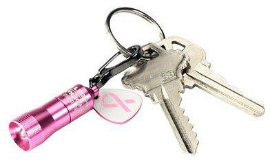 Pink Nano Light<sup>®</sup> Keychain Flashlight, Breast Cancer Awareness Edition