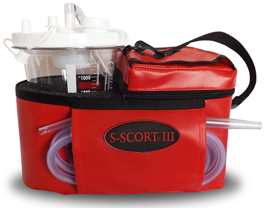 SSCOR S-SCORT<sup>®</sup> III Portable Suction Unit, Red Case