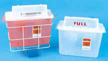 TIDI<sup>®</sup> Sage In-Room Sharps Containers with SharpStar Lid, 8qt, Red