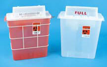 TIDI<sup>®</sup> Sage In-Room Sharps Containers with SharpStar Lids, 12qt, Red