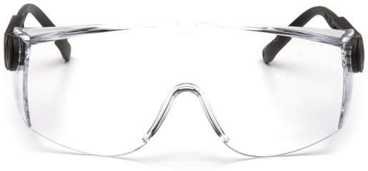 Pyramex<sup>®</sup> Defiant Safety Glasses, Clear Lens, Black Frame