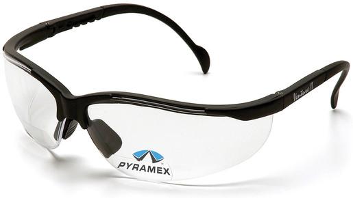 Pyramex<sup>®</sup> V2 Reader Bifocal Protective Eyewear, Clear Lens, Black Frame