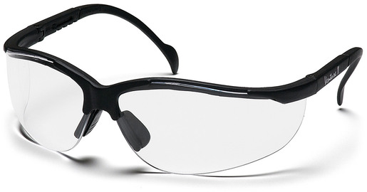 Pyramex<sup>®</sup> Venture II Protective Eyewear, Clear Lens, Black Frame