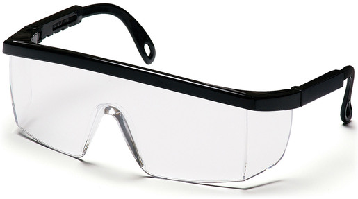 Pyramex<sup>®</sup> Integra Protective Eyewear Safety Glasses, Black Frame