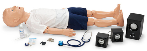 Nasco Child Manikin with Heart And Lung/Breath Sounds, 5-year-old