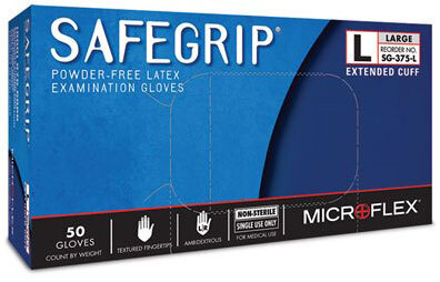 Microflex<sup>®</sup> SafeGrip Powder-free Latex Examination Gloves, X-Large