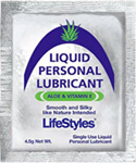 LifeStyles Liquid Personal Lubricant 4.5g, 1,000/cs