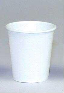 Paper Disposable Cups, Flat Bottom, 3oz