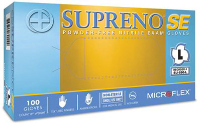 Microflex<sup>®</sup> Supreno SE Powder-free Nitrile Exam Gloves, Large