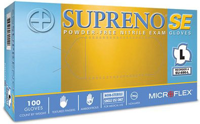 Microflex<sup>®</sup> Supreno SE Powder-free Nitrile Exam Gloves, Medium